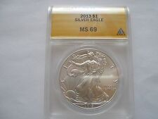 2013 silver eagle , ANACS , MS 69 , Lot of 5