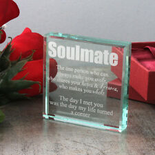 Personalised Soulmate Glass Keepsake - a loving and romantic gift idea