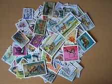 100 DIFFERENT ANIMALS ON STAMPS,EXCELLENT.