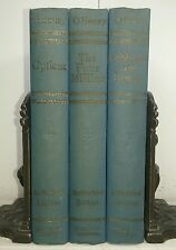 1909~Works of O'Henry~Antique 3 Volume Blue Book Set~Tall Old Home Decor