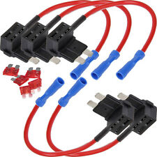 5PCS Add Circuit ACU Piggy Back Tap Standard Blade Fuse Holder 10A Medium Size