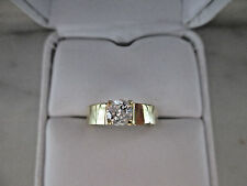 Antique Style Solid 18K Yellow Gold 0.50Ct Natural Diamond Engagement Ring