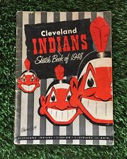 Vintage 1948 Cleveland Indians Sketch Book   Yearbook World Series Chanpion Year