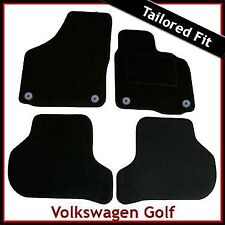 Volkswagen VW Golf Mk5 2003-2008 Round Eyelets Tailored Carpet Car Mats BLACK