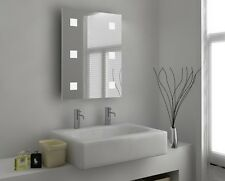 Illuminated Bathroom Mirror with Sensor, Shaver and Demister - Hebe - c25d