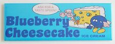Blueberry Cheesecake Ice Cream FRIDGE MAGNET (1.5 x 4.5 inches) sign advert