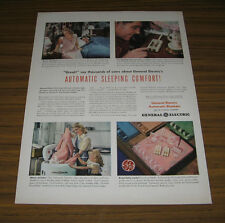 1947 Vintage Ad GE General Electric Automatic Electric Blankets