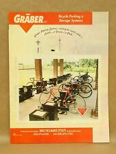 Graber Bicycle Racks Storage Parking Anchoring Display Bike MTB Brochure Catalog