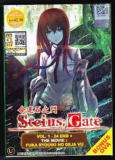 *NEW* STEINS; GATE *24 EPISODES + MOVIE & OVA*ENGLISH SUBS*ANIME DVD*US SELLER