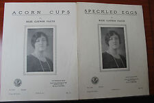 1926 - Acorn Cups & Speckled Eggs by Rose Gaynor Faeth-Piano Vocal sheet music