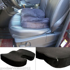 One Black Contoured Memory Foam Auto Vehicle Seat Chair Cushion Mat Pad Support