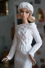 """Pullover beret clothes for Fashion Royalty, Poppy Parker, Barbie, FR2,dolls 12"""""""