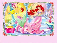 DISNEY Little MERMAID Ariel PRINCESS Birthday Frosting Cake Topper 1/4 sheet