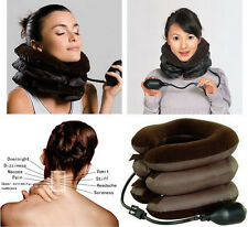New Air Cervical Neck Traction Headache Back Soft Brace Fatigue Relief with pump