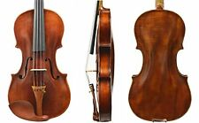 Old Antique Violin 4/4 Size- Has restoration! Despiau Bridge & Dominant Strings!