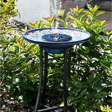 New Cute Solar Powered Bird bath Fountain Pump Standing Garden 1.4W Solar Pane