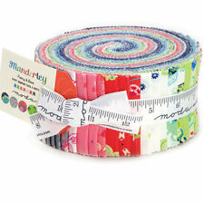 "Moda Jelly Roll 40 of 2.5"" x 42"" Fabric Strips Hazelwood Collection 100% Cotton"