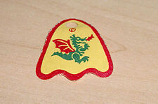 LEGO Castle - Minifig, Cape Cloth, Round Lobes with Dragon Pattern - Yellow