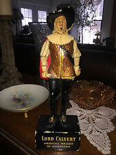 Vintage Original LORD CALVERT Whiskey Chalkware Advertising Bar Statue
