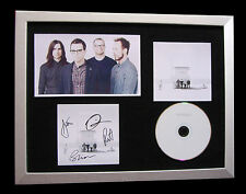 WEEZER+SIGNED+FRAMED+WHITE+BLUE+BEVERLY+ISLANDS=100% AUTHENTIC+FAST GLOBAL SHIP