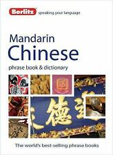 Berlitz Mandarin Chinese Phrase Book and Dictionary, Berlitz Publishing, New Boo