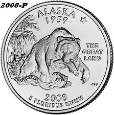 2008-P UNCIRCULATED ALASKA STATE QUARTER - I HAVE ALL P&D STATE QUARTERS