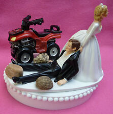 Wedding Cake Topper ATV 4-Wheeler Off-Road 4x4 Outdoors Themed 4-Wheel Vehicle