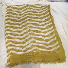 MARC BY MARC JACOBS Stall Scarves mustard color Authentic from Japan pattern
