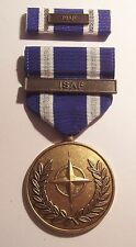U.S. Non-Article 5 NATO Medal (ISAF Bar) Afghanistan with RIBBON & Bar