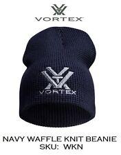 VORTEX NAVY WAFFLE KNIT BEANIE - EMBROIDERED BLUE/GREY VORTEX LOGO - SKU:  WKN