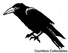 Crow Raven Bird Cling River City Rubber Stamp #1426 Cards Tags Scrapbook