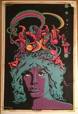 Jim Morrison Vintage Black Light Poster The Wizard Walotsky The Doors 1960's