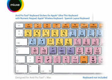 Avid Pro Tools Keyboard Stickers | Mac | QWERTY Español | GLARE-FREE Stickers!