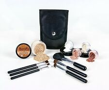 (LIGHT) Mineral Makeup Starter Kit Brush Set Foundation Bare Skin Powder Sheer