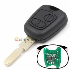 New Remote Key 433MHz With ID46 Chip 2 Button for Peugeot 406 Uncut Blade Fob