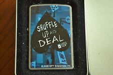 ZIPPO Lighter, 24000 Shuffle Up and Deal, WPT, Chrome, 2007, Sealed, M952