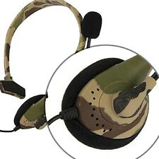 Gaming Headset Headphone Camouflage with two Microphone mic for Xbox 360