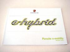 Porsche. e-Híbrido. 2013 folleto de ventas