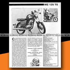 ★ MZ 125 TS ★ 1980 Essai Moto / Original Road Test #a373