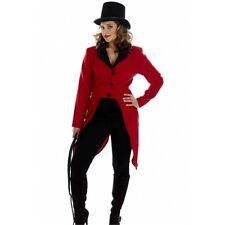 Small Red Adult's Circus Ring Master Jacket - Adult Womens XS Fancy Dress