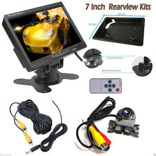 "2 Video Input Waterproof 420TV Reverse Camera + 7"" TFT LCD Car Rearview Monitor"