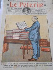 Le Chanoine Américain J. Pletcher Bible polyglotte Washington Print 1928