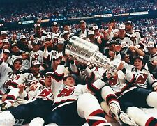 1995 NHL Hockey New Jersey Devils Stanley Cup Champs On Ice Celebration Photo B