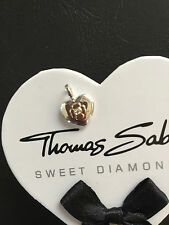 New Genuine Thomas Sabo Sterling Silver Gold Clover Heart Shape Pendant RRP $289