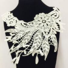 New Lace Embroidered Floral Neckline Neck Collar Trim Clothes Sewing Applique 57