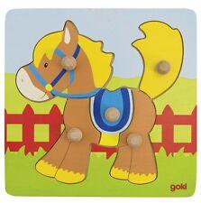 Holzpuzzle  Steckpuzzle Pferd 5 Teile Goki 57555 neu Sperrholz