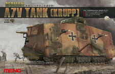 Meng 1:35 WWI German A7V Tank Krupp - Plastic Model Kit #TS017