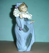 """Lladro Nao Pierrot Con Flor Girl Clown w/Flower #01094 8.25""""H Hand-Painted Spain"""