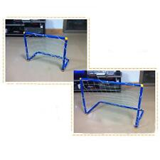 Portable Mini Soccer Football Goal Post Net Set Pump Indoor Outdooor Kids Toy *