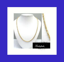 "14K Solid Yellow Gold 2mm Diamond Cut Rope 24"" Chain with lobster clasp."